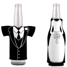 Neoprene Foam Drink Holder - Bride or Groom