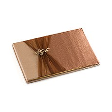 Bronze Elegance Traditional Guest Book