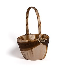 Bronze Elegance Flower Girl Basket