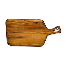 Natural Teak Wood Cutting and Serving Board with Handle
