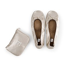 Personalized Foldable Ballet Flats Wedding Favors - Champagne Gold