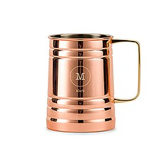 Personalized Copper Moscow Mule Drink Stein – Circle Monogram Engraving