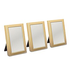 Mini Photo frame Favor in Gold or Silver Easel Back (3)