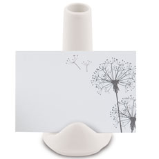 Small White Favor Vase or Place Card Holder