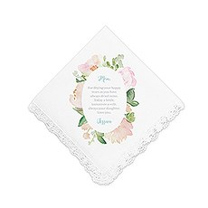Personalized White Pocket Handkerchief - Garden Party