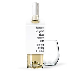 Personalized Wine Bottle Neck Hang Tags - No Great Story