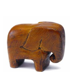 Miniature Wooden Elephants Asian Wedding Favor (4)