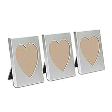 Small Silver Heart Photo Frame Favor (4)