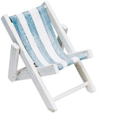 Mini Blue and White Striped Deck Chairs Beach Favor (8)