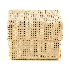Natural Woven Favor Boxes With Lids - Natural Color