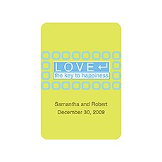 """LOVE - The Key to Happiness"" Stickers"