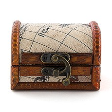 Mini Wooden Treasure Chest Favor (6)