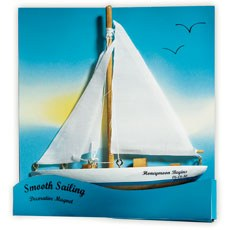 """Smooth Sailing"" Sailboat Magnet Gift Favor (6)"