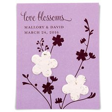 Seed Paper Love Blossoms Personalized Favor Card (12)