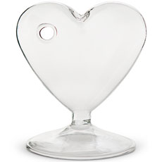 Small Clear Heart Shaped Vase (4)