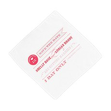 Play Bill Save The Date Personalized Handkerchief