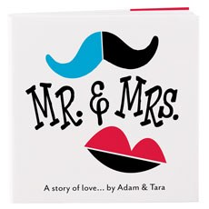 Notepad Favor with Personalized Mr. & Mrs. - A Story of Love Cover