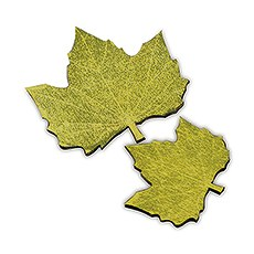 Maple Shaped Wooden Die-cut Leaves in Woods Green