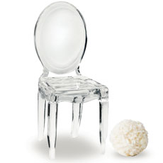 Miniature Clear Acrylic Phantom Chairs (8)