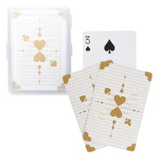 Metallic Gold Playing Cards with Case