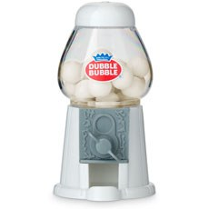Mini White Gumball Machine Favor with Gumballs