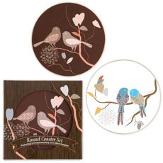 Love Birds Coaster Set Favour in Gift Packaging