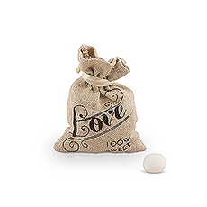 Mini Linen Drawstring Bags with Love Print (12)