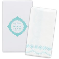 Wedding Favor Tissues Sea Blue Print
