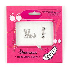"Yes! ""Shoe Talk"" Stick on Decals for Shoes"