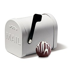 Small White Tin Mailbox Favor Container (6)