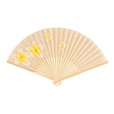 Tropical Fan with Romantic Plumeria Floral Details (6)