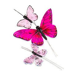 Hand Painted Butterfly - (24) Assorted Sizes (24)
