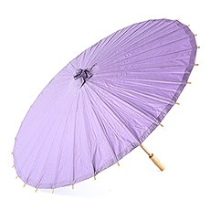 Pretty Paper Parasol with Bamboo Handle - Lavender