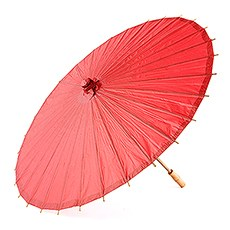 Paper Parasol with Bamboo Boning - Red