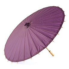 Paper Parasol with Bamboo Boning - Purple