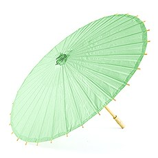 Paper Parasol with Bamboo Boning - Daiquiri Green