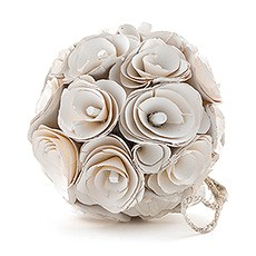 Floral Pomander Ball Made With Wood Curls - Medium