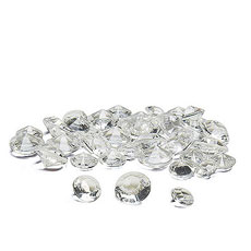 Acrylic Diamond Shaped Confetti - Clear