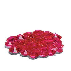 Acrylic Diamond Shaped Confetti - Fuchsia