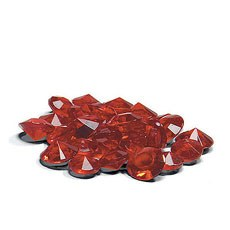 Acrylic Diamond Shaped Confetti - Ruby