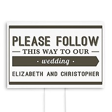 Bistro Bliss Directional Wedding Sign