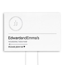 Monogram Simplicity Directional Wedding Sign - Modern