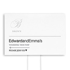 Monogram Simplicity Directional Wedding Sign - Elegant