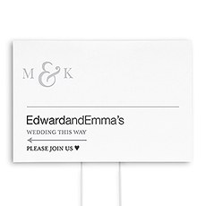 Monogram Simplicity Directional Wedding Sign - Simple Ampersand