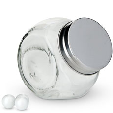 Small Glass Candy Jar with Lid Wedding Favor (12)