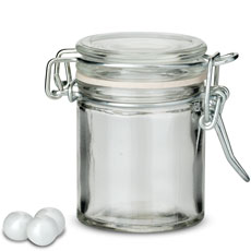 Small Glass Jar With Wire Snap Lid Favor Container (12)