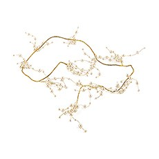 Pearl & Vintage Gold Wire Ornamental Garland