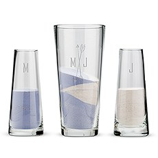 Free Spirit Personalized Sand Ceremony Vase Set