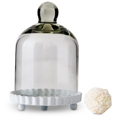 Small Glass Bell Jar with White Base Wedding Favor