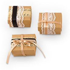 12 Vintage Style Favor Wrapping Kit